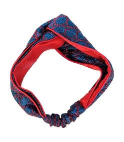 blue/red gg supreme print headband