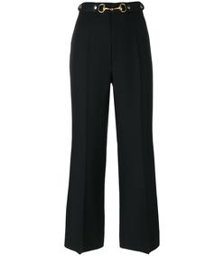 black horsebit cropped trousers