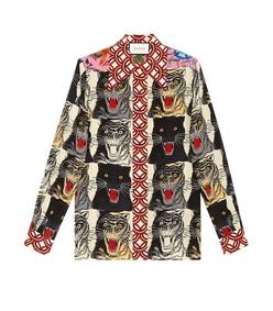 multicolor animal print shirt