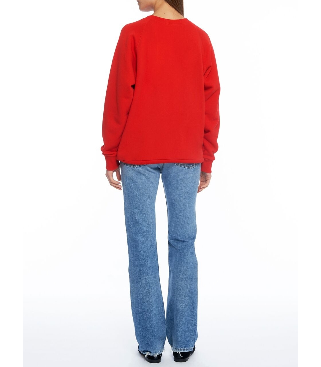 Gucci UFO Embroidered Sweatshirt - Red Crew Neck Long Sleeve ...