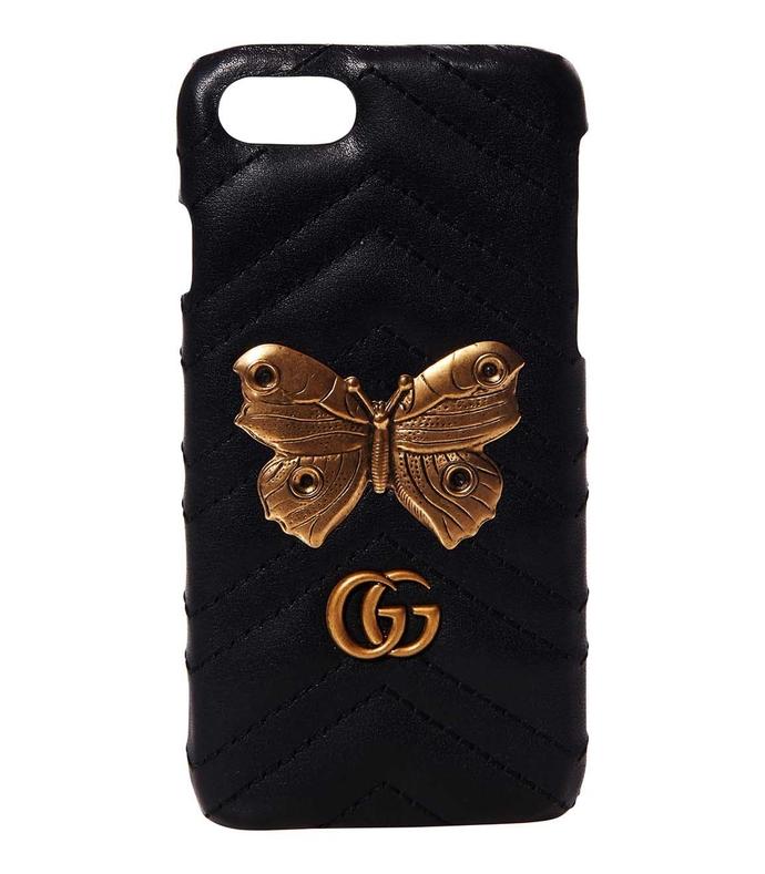 black gg marmont moth stud iphone 7 case