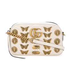 white gg marmont butterfly bag