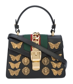 black sylvie animal studs mini bag