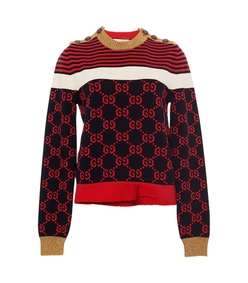 multicolor gg logo crewneck sweater