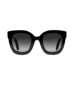 black round frame acetate sunglasses