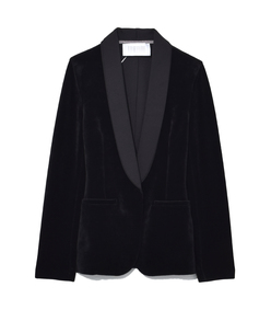 black technic velvet smoking jacket