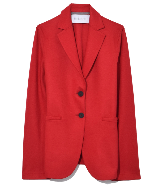 red welt pocket blazer