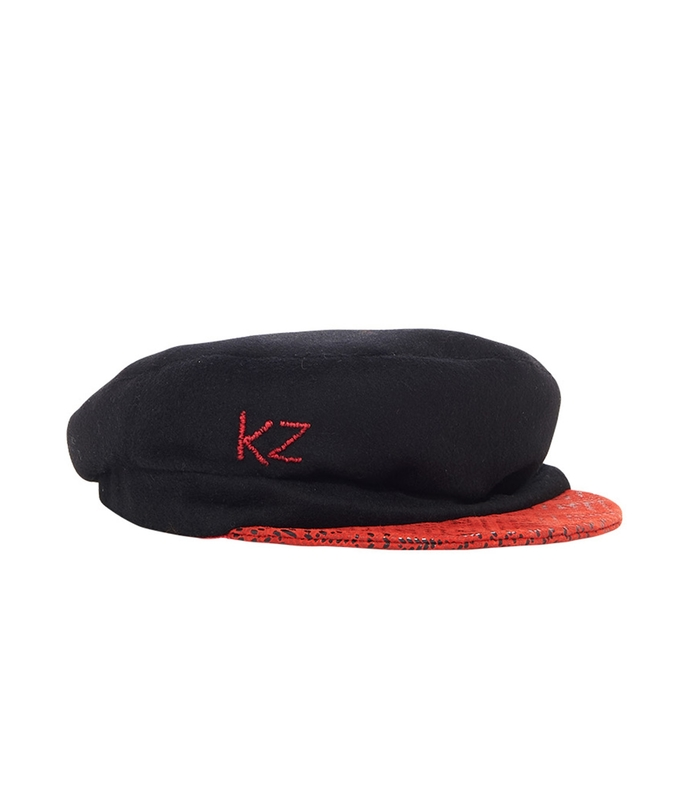 red/black fishmans hat