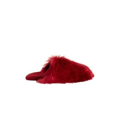 cherry fur slippers