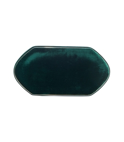 green velvet compact clutch bag