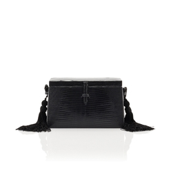 black square trunk shoulder bag