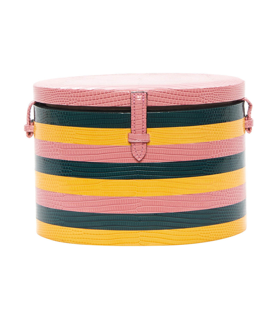Exclusive Pink Striped Lizard Round Trunk