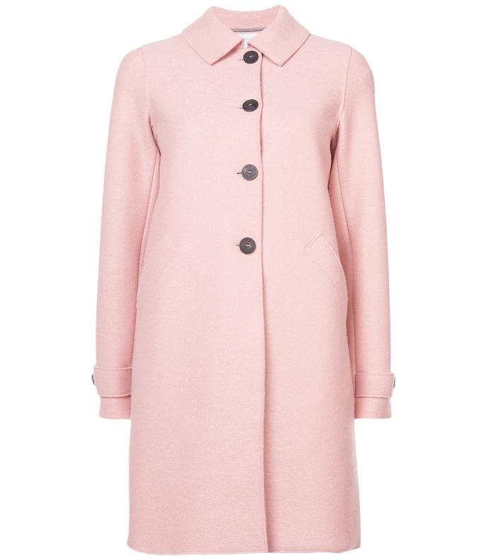 pink wool-felt coat