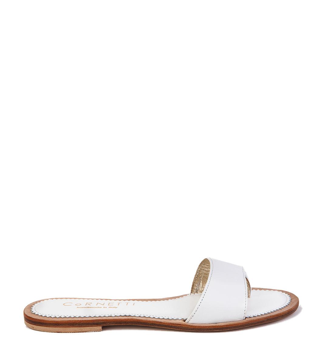 CORNETTI Cannucce Sandal in White Calfskin