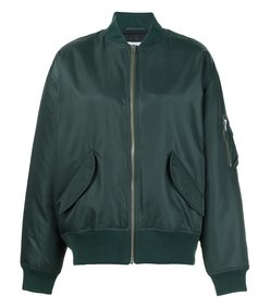green 'gabor' bomber jacket