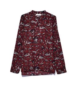 burgundy 'amaria' blouse