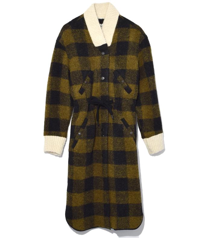 dark green glitz blanket coat