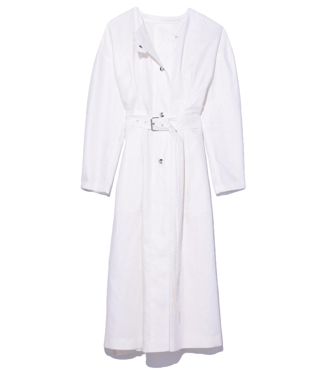 White dress coat -  White Ivo Dress Coat Prev
