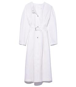 white ivo dress coat