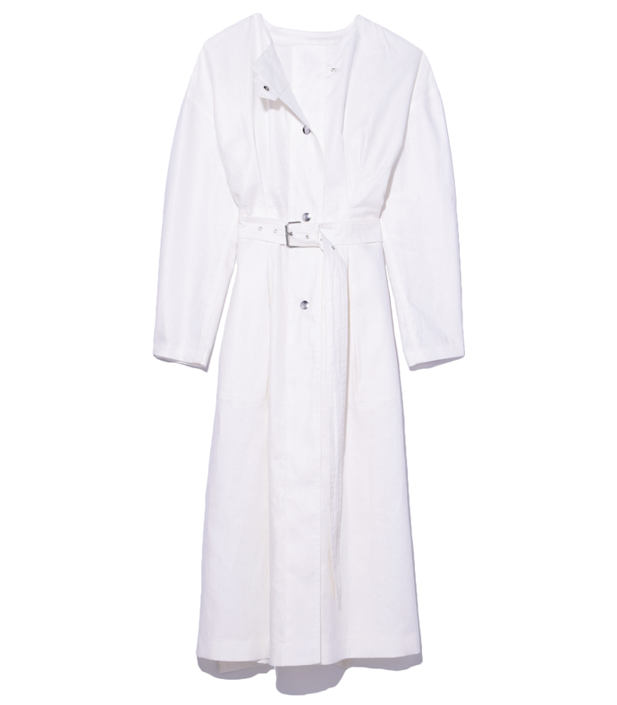 white ivo dress coat