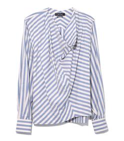 blue/white stripe milford top