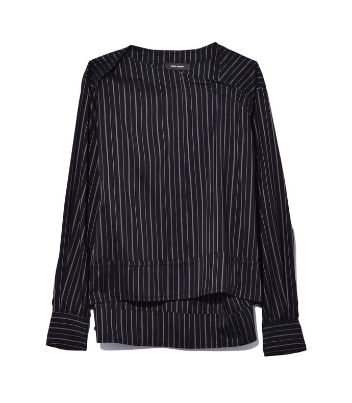 black 'stanford' stripe top
