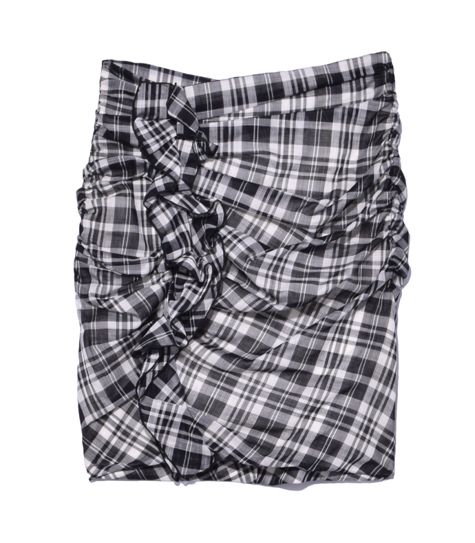 black plaid 'wilma' skirt