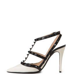 ShopBazaar Valentino Ankle Strap Rockstud Pump FRONT
