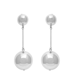 silver sphere earrings