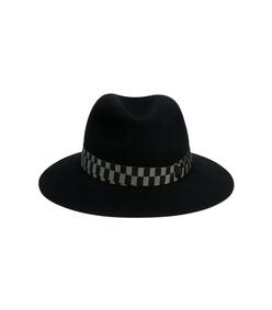 black 'henrietta' stripe band hat