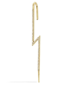 gold diamond flash ear pin