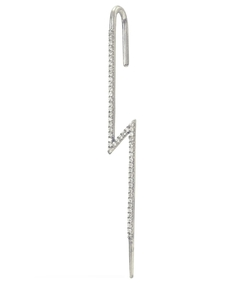 white gold diamond flash ear pin