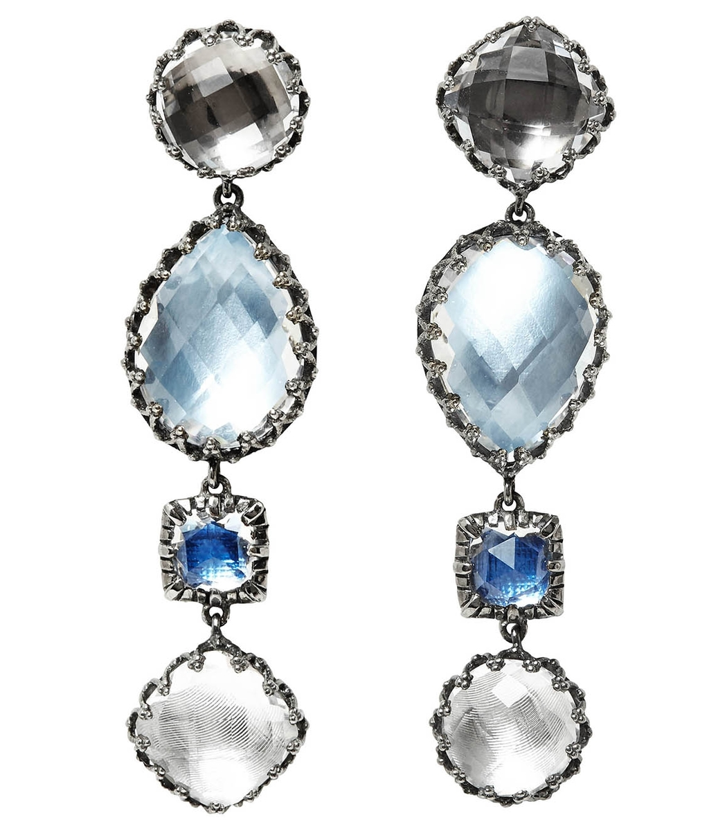 Larkspur & Hawk Sadie Four-Drop Earrings in White Foil r8icF1NO1