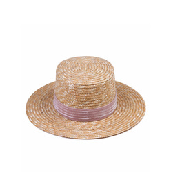 natural straw velour hat