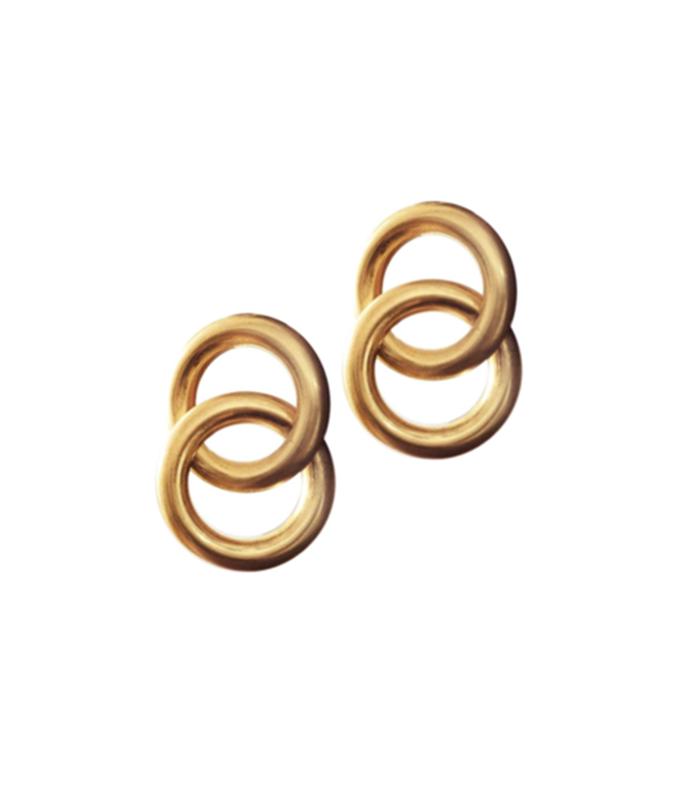 gold interlock earrings