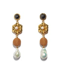 gold 'hill tribe' earrings