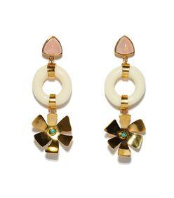 multi 'lotus' earrings
