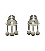 silver temple earrings