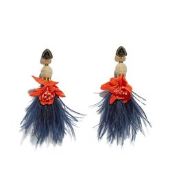 blue garden party earrings