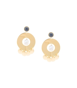golden hour circle earrings