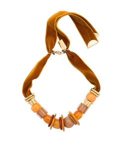 gold amber savanna necklace