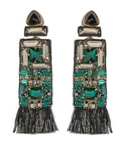 green emerald city crystal earrings