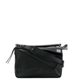 ShopBazaar Loewe Medium Black Puzzle Bag MAIN