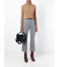 ShopBazaar Loewe Medium Black Puzzle Bag FRONT