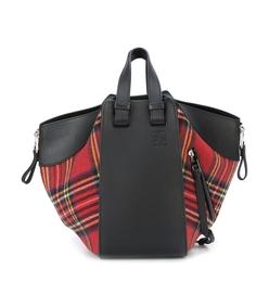 red & black tartan hammock bag