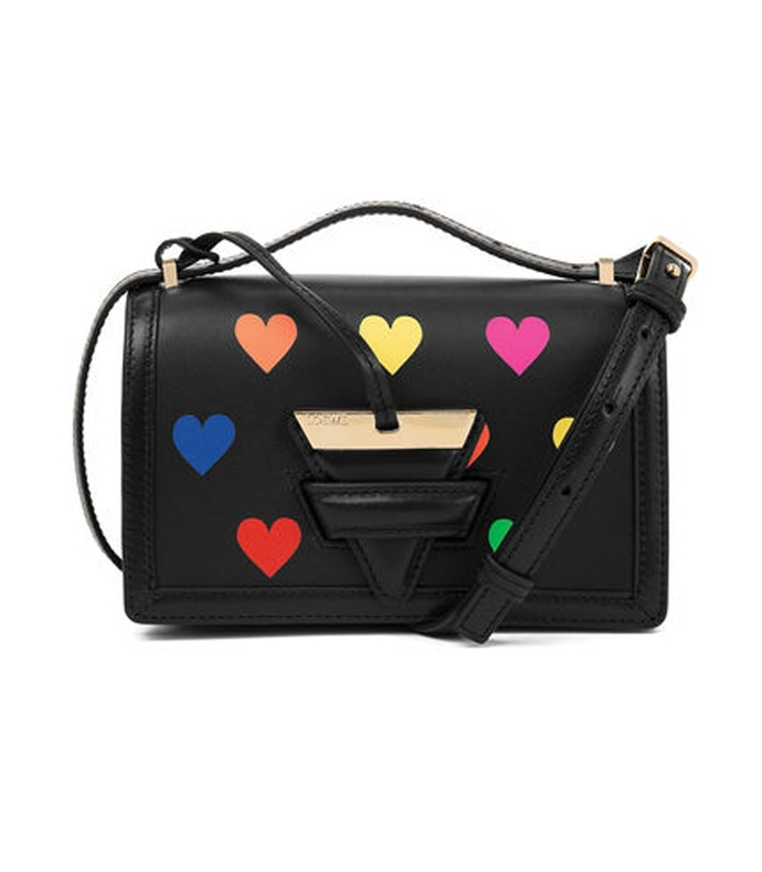 small barcelona bag with multicolor hearts