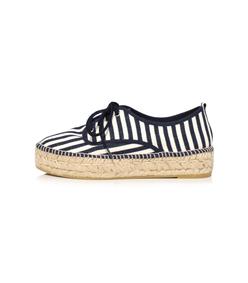 white/eclipse stripe alfie espadrille sneaker