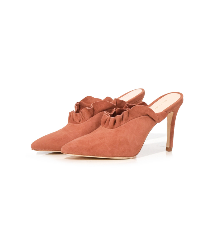 dusty rose langley mule