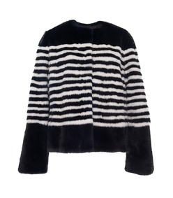 navy/white marilena striped mink