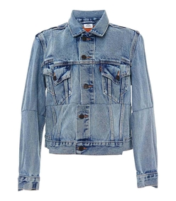 blue levi's reworked denim jacket